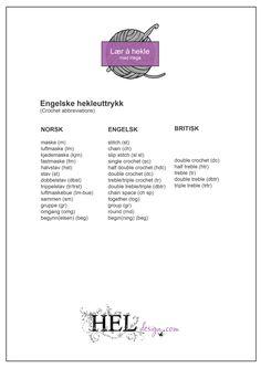Engelske hekleuttrykk av Hege Espeland Lygre