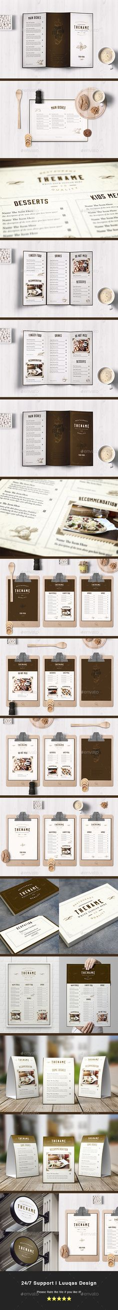 Classy Food Menu 6 Template Vector EPS, AI Illustrator. Download here: https://graphicriver.net/item/classy-food-menu-6-template/17449969?ref=ksioks