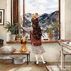 Художник-иллюстратор из Сеула, Южная Корея, творит под ником Aeppol. Пожалуй, известно об этом человеке еще лишь то, что недавно вышла книга его авторства «Я буду твоим лесом: дневники лесной девочки». «Я художник, который пытается захватить красоту, проявляющуюся в уникальности каждого момента из повседневной жизни, которые вдохновляют нас, прежде чем исчезнут навсегда.