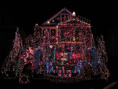 A Picture, a Day: The Christmas House in Torrington, CT This is for REAL!