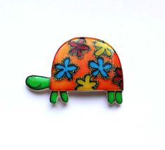 Free shipping Turtle brooch pin Animal brooch Turtle jewelry animal jewelry colored turtle (0046) by Dinabijushop on Etsy https://www.etsy.com/listing/125642434/free-shipping-turtle-brooch-pin-animal
