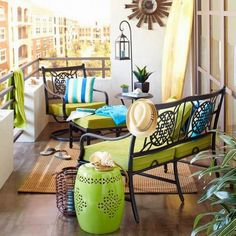 It is always nice to have a balcony, but how to decorate it if the balcony is really small? These ideas of small balcony designs will help you to find the best idea of your own balcony design. Patio Decor, Decor, Balcony Decor, Furniture, Small Porches, Outdoor Furniture, Apartment Decor, Small Decor, Home Decor