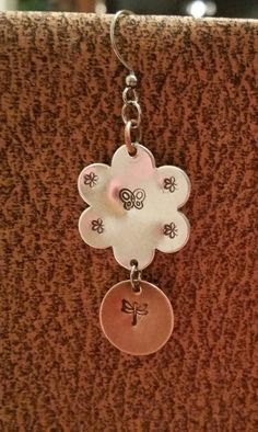 Butterfly Flower bicolor copper and aluminum  by OklahomaMama
