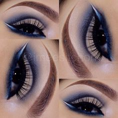 Navy cut crease