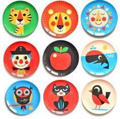 Ingela P Arrhenius Melamine Plates Hot! Ingela P Arrhenius Melamine Plates Eclectic Dinnerware, Outdoor Dinnerware, Melamine Dinnerware, Kitsch, Animal Plates, Kids Plates, Toddler Plates, Deco Kids, Cute Illustration