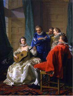 Loo, Louis-Michel van (1707-1771) - Une Espagnole Jouant De La Guitare