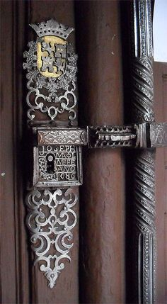 Ornate church door handle - Madrid, c1686
