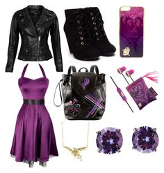 """Disney Descendants - Mal"" by juliadonda ❤ liked on Polyvore featuring VIPARO, Disney and Bottega Veneta"