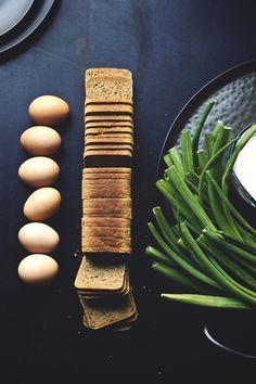 Scallion, Buttermilk Frittata With Flowering Ryebread Crust | Princess Tofu