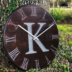 """""""Added the stainless clock hands to make them pop more then the standard black hands. Finished it with General Finishes Brown Mahogany Water Based Stain and Enduro Clear Poly. Water Based Wood Stain, General Finishes, Wood Clocks, Furniture Makeover, Different Colors, Furniture Design, Stains, It Is Finished, Rustic"""
