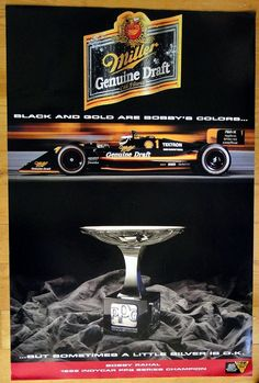 1992 Bobby Rahal Indycar PPG Series Champion Poster for Miller Genuine Draft Beer- Man Cave, Rec Room, Garage, or Work Shop Wall Decoration by TheCalamityHouse on Etsy