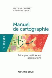 Nicolas Lambert et Christine Zanin - Manuel de cartographie - principes, méthodes, applications. http://cataloguescd.univ-poitiers.fr/masc/Integration/EXPLOITATION/statique/recherchesimple.asp?id=193141612