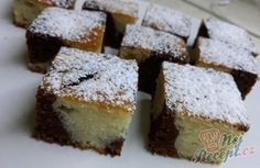 Mramorový jogurtový koláček   NejRecept.cz Czech Desserts, Sweet Desserts, Sponge Cake, Sweet Cakes, Yummy Treats, Smoothies, Sweet Tooth, Cheesecake, Muffin