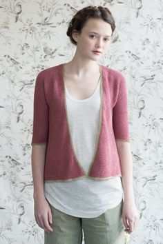 petunia by pam allen / quince & co sparrow in nannyberry and little fern