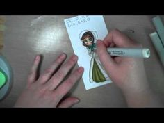 Coloring white clothing with Copic markers