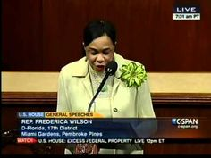 Congresswoman Wilson's House floor speech on the shooting death of Trayvon Martin #JusticeForTrayvonMartin
