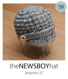 adorable hat! visit http://hookedboutique.blogspot.com/p/wait-list.html   for current turn around times    This adorable hat is perfect for your little boy and/or an adorable photo shoot.  Textured stitches and unique yarn makes this hat extra manly.  Made with 100% soft acrylic yarn.    When ordering, please ...