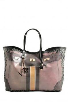 Shopping bag V°73 mimetic green. Shopping bag in beige