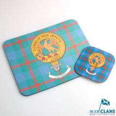 Clan Crest & Tartan Mousemat and Coaster Set