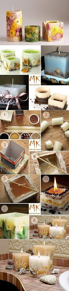 The use of candles for light and heat is known to have existed in ancient times. The remains of candles have been found in the caves of France. Homemade Candles, Diy Candles, Homemade Gifts, Scented Candles, Diy Gifts, Hobbies And Crafts, Diy And Crafts, Candle Art, Candlemaking