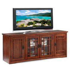 Mission Oak Hardwood 60-inch TV Stand. Overstock $429.99
