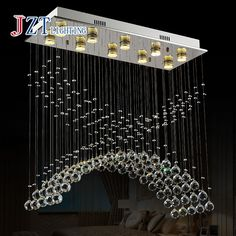 171.72$  Buy here - http://alin7c.worldwells.pw/go.php?t=32632267661 - Z Best price New Flush Mount Square Modern LED Chandelier Crystal Lamp Home Lighting W800*300*H800mm With GU10 Led Bulb 171.72$