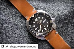 Follow @shop_wornandwound ・・・ Back in stock: the Whiskey Model 2 Cordovan, aka the perfect strap for the #seiko SRP775. Available now on shop.wornandwound.com #wandwshop