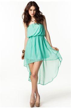 Hi Lo Chiffon Tube Dress Agaci Store $21.50