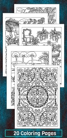 20 Designs Coloring Pages For Grown Ups And Kids Too Nature Printable