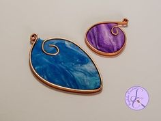Tutorial: Ciondolo in Fimo Effetto Marmo e Wire (polymer clay marble charm with flat wire) - YouTube