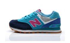 NEWBALANCE Navy Blue And Blue Womens Running Shoes 574 - ShopGoo Online Store