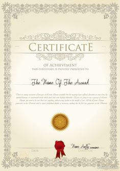 the certificate template design 03 vector Certificate Of Merit, Graduation Certificate Template, Certificate Of Completion Template, Certificate Of Achievement Template, Certificate Format, Free Gift Certificate Template, Certificate Of Appreciation, Printable Certificates, Certificate Model
