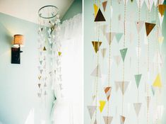Mint Nursery with Geometric Patterns and Woodland Details