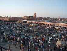 Jemaa el-Fnaa Square, Marrakech - one of the most famous squares in all of Africa, is the centre of city activity and trade