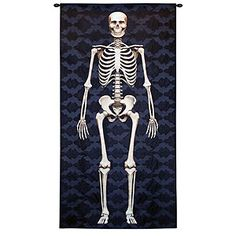 Skeleton tapestry from World Market - for a contemporary, not kitschy, twist on Halloween.