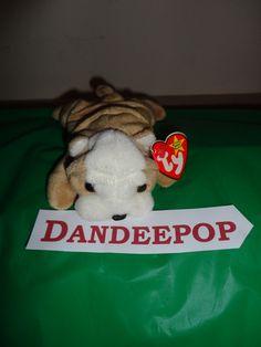 Original TY Beanie Babie Wrinkles Dog 1996 stuffed animal find me at www.dandeepop.com