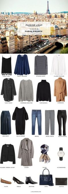 What to Pack for Paris France in April Packing Light List #packinglist #packinglight #travellight #travel #travetips #40plus