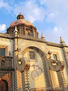 Iglesia de Santa Rosa De Viterbo. Queretaro, México.