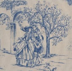 Red Toile Fabric Direct from France (Toile De Jouy) Toile Wallpaper, Victorian Wallpaper, French Decor, French Country Decorating, Chinoiserie, Textiles, Amazon Art, French Fabric, Body Mods