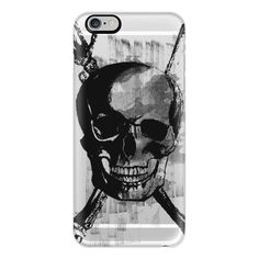 iPhone 6 Plus/6/5/5s/5c Case - Skull with Crossbones And Hand with... ($40) ❤ liked on Polyvore featuring accessories, tech accessories, iphone case, iphone cover case, apple iphone cases and slim iphone case