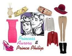 """Disney Couples: Aurora and Prince Philip"" by disneydressing ❤ liked on Polyvore featuring Disney, Luichiny, Brixton, Line, Lauren Ralph Lauren, Vero Moda and Gabriella Rocha"