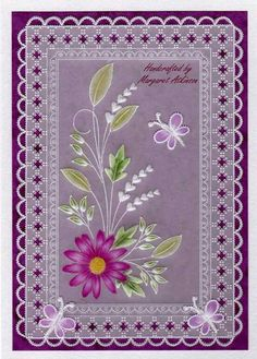 Tina Cox design made by Margaret Atkinson Vellum Crafts, Vellum Paper, Paper Cards, Parchment Design, Parchment Cards, Fancy Fold Cards, Card Patterns, Homemade Cards, Machine Embroidery Designs