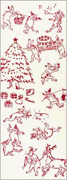 "japanese towel ""tenugui"" christmas version クリスマスの宴"