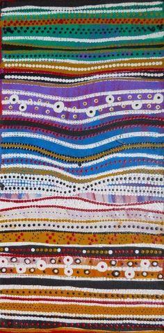Elsie Napanangka - Granites. 61x30cm (Australian aboriginal art)  [per previous pinner]