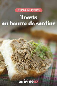 Enviede grignoter quelque chose à cet apérofait maison ?Testez notre recette facile et rapide de toasts au beurre de sardine.  #recette#cuisine#toast#sardine#apero #aperitif