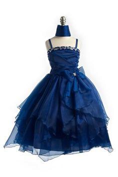 Royal Chiffon Child Beaded Gown, J999