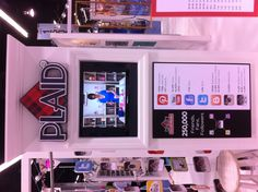 Part of our social media section at our booth