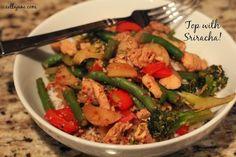 Cella Jane // Fashion + Lifestyle Blog: Healthy Spicy Chicken and Veggie Rice Bowl