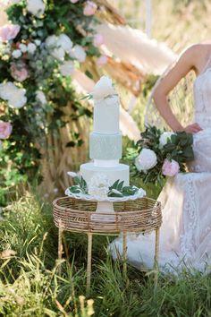 Bridal Inspiration Shoot featuring Bloom Screens - Decor & Rentals // Bridal Style // Wedding Rentals // Backdrops // Silk Florals // Bridal Gown // Outdoor Weddings // Blush Wedding // #albertaweddingsocial #weddinginspiration #styledshoot #weddingstyle #silkflorals #weddingcakeideas #mintcake Outdoor Weddings, Real Weddings, Wedding Trends, Wedding Styles, Jewel Cake, Mint Cake, Wall Backdrops, Wedding Rentals, Bridal Style