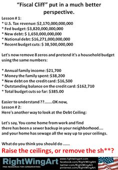 The fiscal cliff in perspective..DUH, NOW it makes sense.